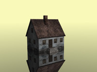 3d house polygons