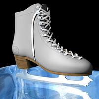 3d figure skate model