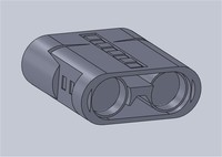 3d model of binoculars jumelles
