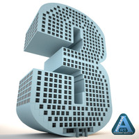 3d building shape number 3