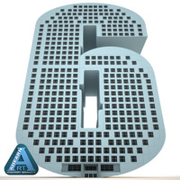 3d building shape number 6