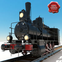 lightwave old steam locomotive