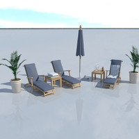 3ds max pool set