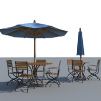 steel tables patio 3d max