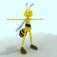 cartoon bee rig 3d max
