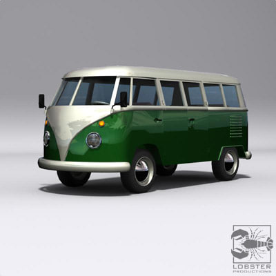 campervan minivan microbus 3d model - campavan_max.rar... by Lobster Productions