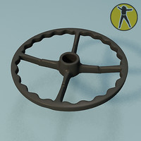 free chair wheel base rest 3d model