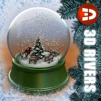 Reindeer snow globe by 3DRivers