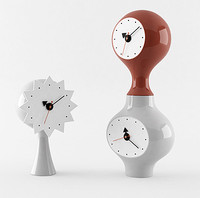 Ceramic clocks design by George Nelson