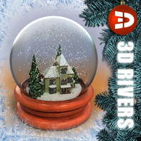 House snow globe 03 by 3DRivers