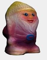 3ds gnome figure decorate