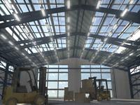 3d hangar forklifts environment