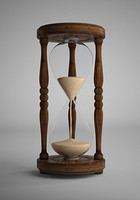 hourglass glass hour 3d max