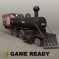 Low Poly - Old Steam Locomotive, The General