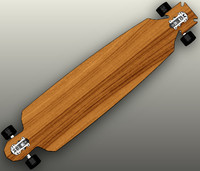 Longboard Skateboard Maltese shape in SolidWorks 2009