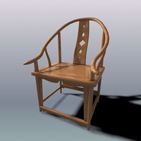 arm chair chinese 3d model