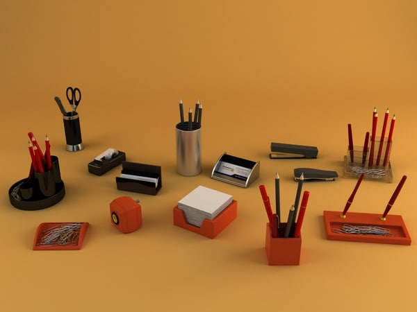 3d office clutter laptops - Mega Office Collection... by RippleDesign
