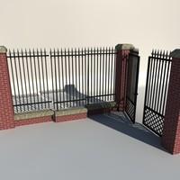 fence iron 3d c4d