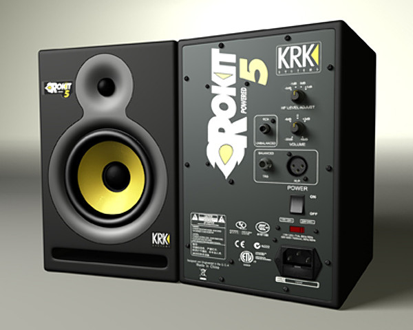 3d monitor krk model. Black Bedroom Furniture Sets. Home Design Ideas