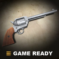 old western colt shooter 3d max