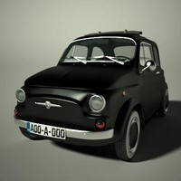 fiat 500 old 3d model
