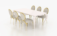 set cantori table chair 3d max