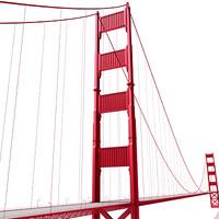 3dsmax golden gate bridge