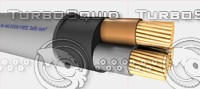 ymz1k halogen cable 3x95 3d max