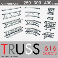 3DMD Truss Aluminum Library