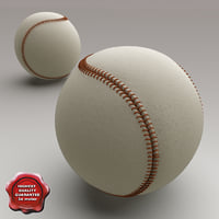 baseball modelled 3d model