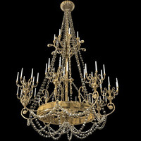3d model chandelier candles