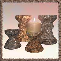 3d pillar candle model