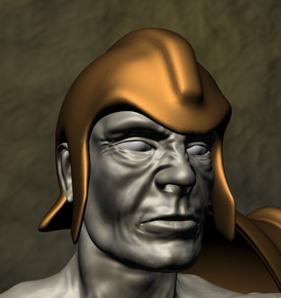 3ds max human warrior for 3ds max face modeling