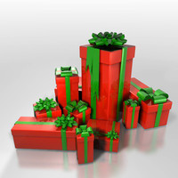 3d model group christmas gifts