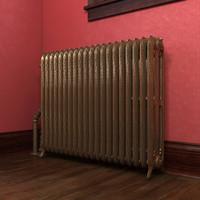 3dsmax cast iron radiator