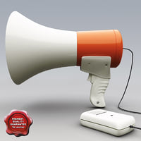 megaphone modelled 3d model