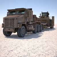 MILITARY TRUCK M1070-Low Loader & Digger-Excavator