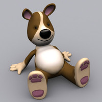 dog cartoon 3d 3ds