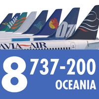 3dsmax 737 200 airliner oceania