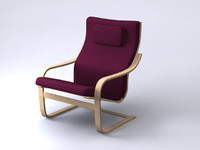 poang chairs 5 3d 3ds