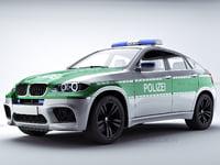 Polizei car bmw X6