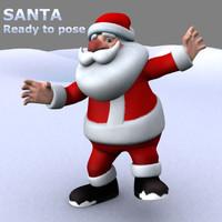 santa father christmas 3d model