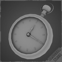 3d pocket watch model