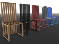 c4d modern chairs sofia