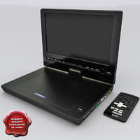 portable dvd player sony 3d model