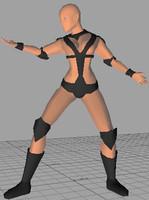 Vira girl warrior lo-poly