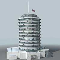 accurate landmark building 3d model