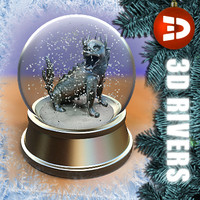 max snow globe chinese dragon