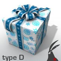 3d gift box types model
