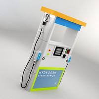3d fuel pump hydrogen model